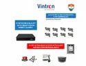 Feecom Vintron 8-CH 5-MP DVR With H.265 Comression 3-Mp Full Hd (2048p )  8-Pc Bullet