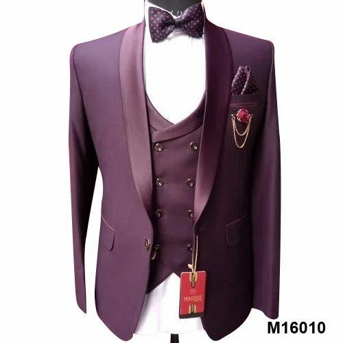 5f9db10dcaa Purple Cotton Linen Mens Suits