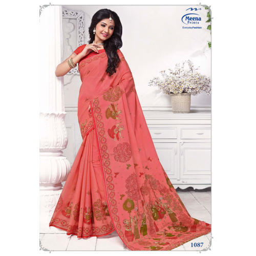 9ee5d2202 Casual Wear Ladies Stylish Pure Cotton Saree