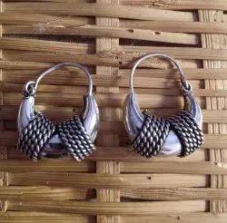 15 gm Silver Look Alike Brass Earrings