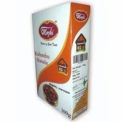 Mozhi Kulambu Masala, Packaging Type: Box, Packaging Size: 100g