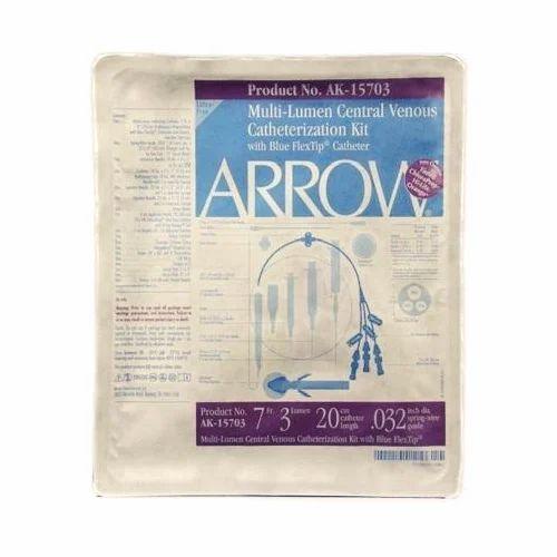 arrow triple lumen catheter kit usage clinical hospital