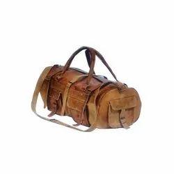 Leather Travel Drum Bag