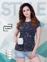 Ladies Half Sleeve Printed T-Shirt