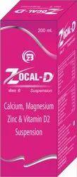 Calcium Carbonate, Magnesium Hydroxide, Zinc Gluconate, Vitamin D3 Syrup