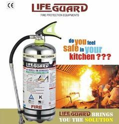STAINLESS STEEL Lifeguard K Type Fire Extinguisher Capacity 4 Ltr