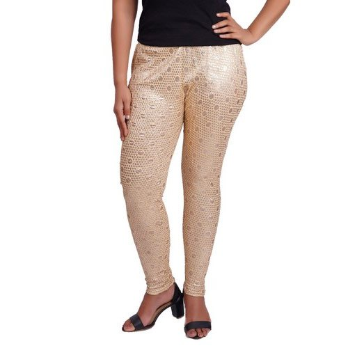 Churidar Printed Ladies Shimmer Legging, Size: XL-XXL