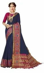 Designer Cotton Silk Party Wear Weaving Saree, 6.3 mtr