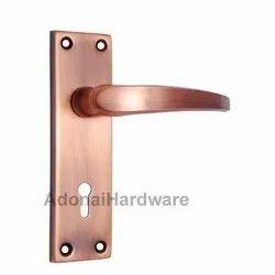 Abimelech Iron Door Handle With Plate