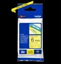 Brother TZe-611 Labelling Tape Cassette  Black on Yellow, 6mm wide