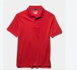 Half Sleeve Light Red School Summer T-Shirt, Size: S To XXL