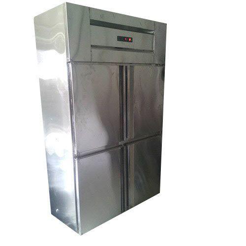 Stainless Steel Electricity 4 Door Commercial Deep Freezer