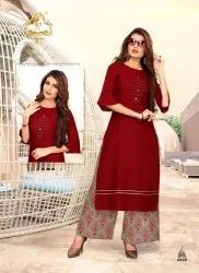 RT Plazzo Queen Vol 2 Kurti with Palazzo Set