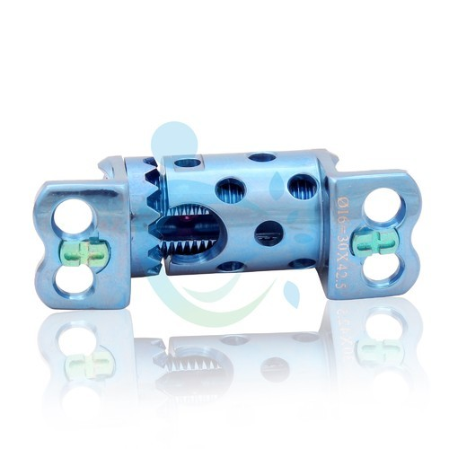 Titanium Expandable Jack Cage with Plate, Size: 20 mm x 25 mm,25 mm x 35 mm, For Orthopedic Surgery