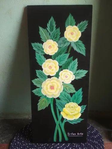 Hard board Handmade Painting, Size: 10 Inch - 30 Inch