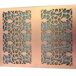 Copper Jaali Laser Cutting Service