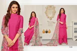 3/4 Sleeve Aabida Salwar Suit Fabric