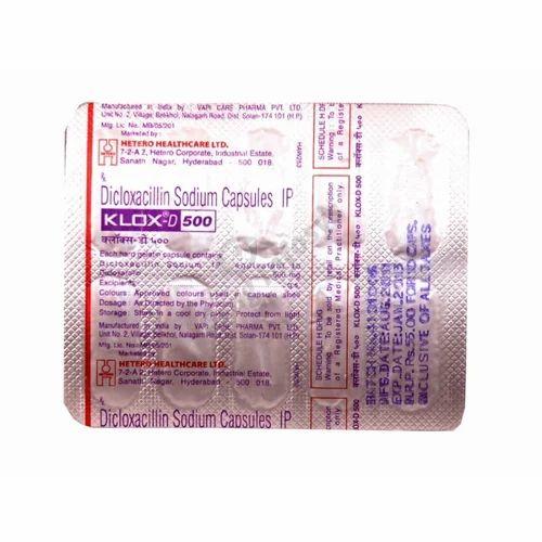 Allopathic Finished Product Dicloxacillin Sodium Capsules IP, Klox, LYKA HETERO