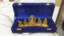 Gold Plated Musical 5 Ganesh