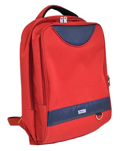 Red-Blue Rexine School Bag