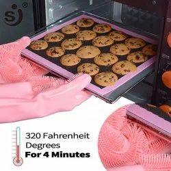 Plain Silicon Kitchen Gloves, For Household