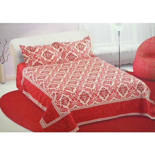 Cotton Damask Stella Quilt Print Bed Sheet, Size: 225 X 250 Cm