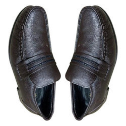 Mens Fancy Brown Leather Formal Shoes, Size: 6-14