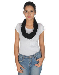 Acrylic Knitted Solid Scarf
