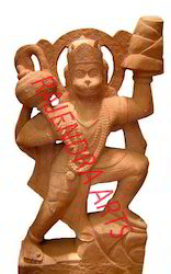 Red Stone Hanuman Ji Statues