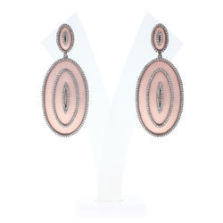 Diamond Designer Oval Earrings
