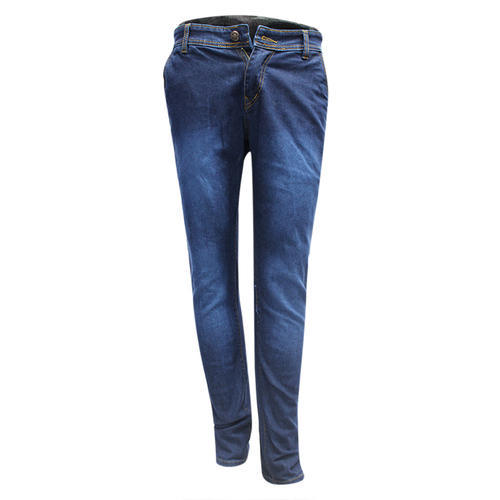 Plain Mens Blue Denim Jeans, Waist Size: 28
