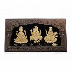 Laxmi Ganesh Saraswati Leaf Frame