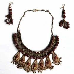 Address Craft Antique Brass Necklace Set
