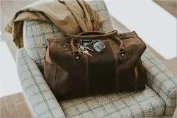 Brown Buffalo Leather Travel Bag