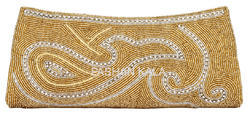 Female Handmade Zari Embroidered Clutch Purse