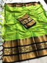 Fashion Turner Border Cotton Saree, Length: 5.5 m with Blouse Piece