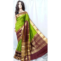 Green And Brown Kanjivaram Saree