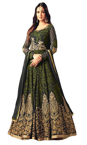 067089b1d Embroidery Georgette Engagement Wear Heavy Anarkali Suits