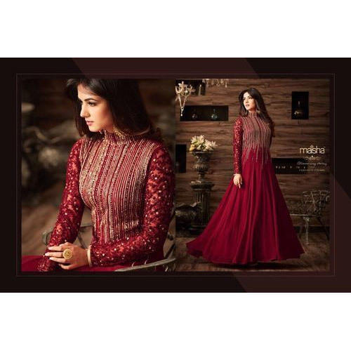 3a5d31094c Max Up To 44 Net Maisha 4806 Red Anarkali Super Hit Design, Rs 1150 ...