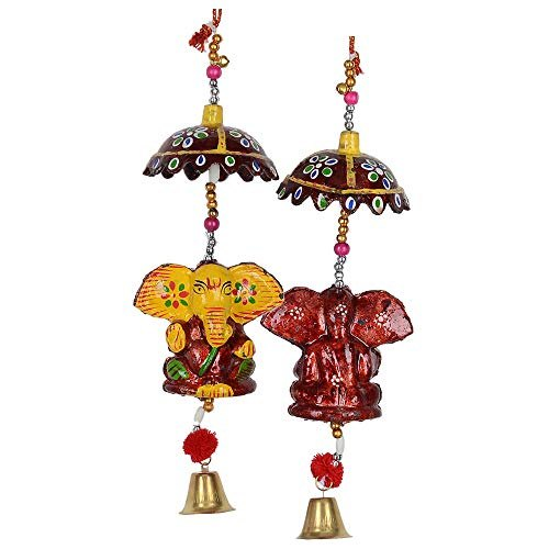 Decorative Elephant face Bell Wall Hanging handicrafts Product Décor Home
