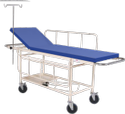 """Si Surgical Silver Stretcher Trolley With Mattress, Size: 71""""l X 22""""w X 32""""h, Model Name/number: Sis-2010"""