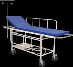 SI SURGICAL Silver STRETCHER TROLLEY WITH MATTRESS, Size: 71l X 22w X 32h, Model Name/Number: Sis-2010