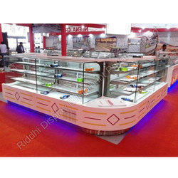 Stainless Steel Sweet Display Counter, Thickness: 1.5 Mm, For Sweet & Sancks