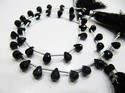 Top Quality Natural Faceted Drop Shape Black Spinel Beads.