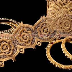 Fancy and Elegant Gold Zari Lace