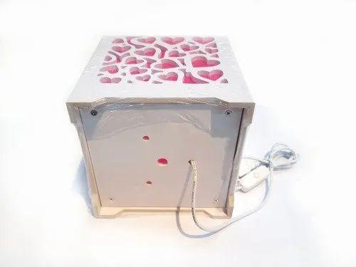 Pleasing Awraaq Pvc Wood Plastic Heart Shape Design Rectangular Night Lamp Home Interior And Landscaping Ponolsignezvosmurscom