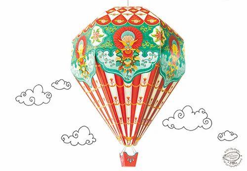 Diy Hot Air Balloon Lamp Shade Red, Hot Air Balloon Lampshade