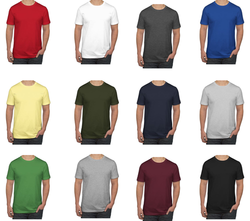 Plain Blank Round Neck T Shirt