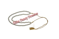 Artificial Kaku Fancy Dresses White 2 Line Mala, Size: Free Size
