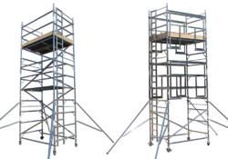 Aluminum Double Width Movable Tower Scaffolding